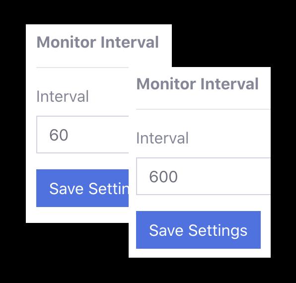 custom interval monitoring